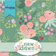 New Dawn Fat Quarter Bundle 24 pieces - Riley Blake Designs - Pre cut Precut - Floral Flowers - Quilting Cotton Fabric - Free US Shipping