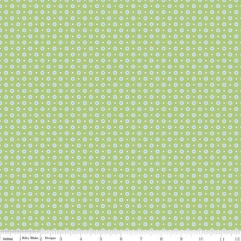 SALE Bake Sale 2 Dot C6987 Green - Riley Blake Designs - Polka Dots Dotted - Quilting Cotton Fabric