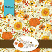Give Thanks 2.5-Inch Rolie Polie Jelly Roll 40 pieces Riley Blake Designs - Precut Bundle - Thanksgiving Autumn - Quilting Cotton Fabric