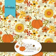 "Give Thanks Charm Pack 5"" Stacker Bundle - Riley Blake Designs - 42 piece Precut Pre cut - Thanksgiving - Quilting Cotton Fabric"