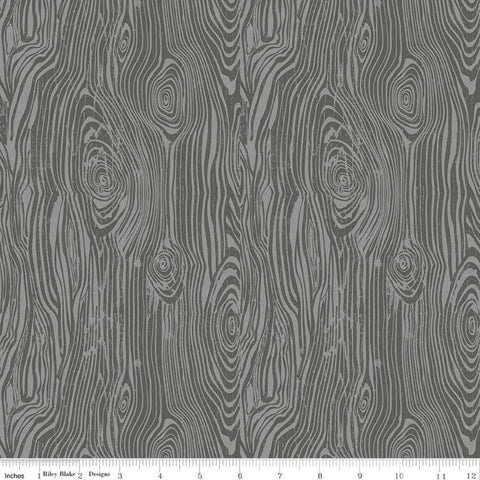 My Heritage Faux Bois C9793 Gray - Riley Blake Designs -  Tone on Tone Woodgrain False Wood - Quilting Cotton Fabric