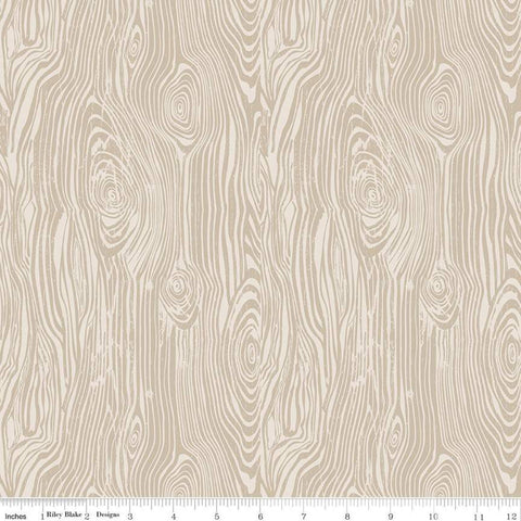 My Heritage Faux Bois C9793 Parchment - Riley Blake Designs -  Beige Tone on Tone Woodgrain False Wood - Quilting Cotton Fabric