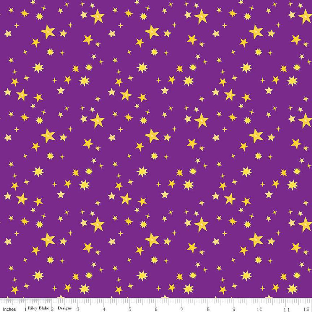 SALE Uni the Unicorn Stars C9984 Purple - Riley Blake Designs - Fantasy Juvenile Amy Krouse Rosenthal - Quilting Cotton Fabric