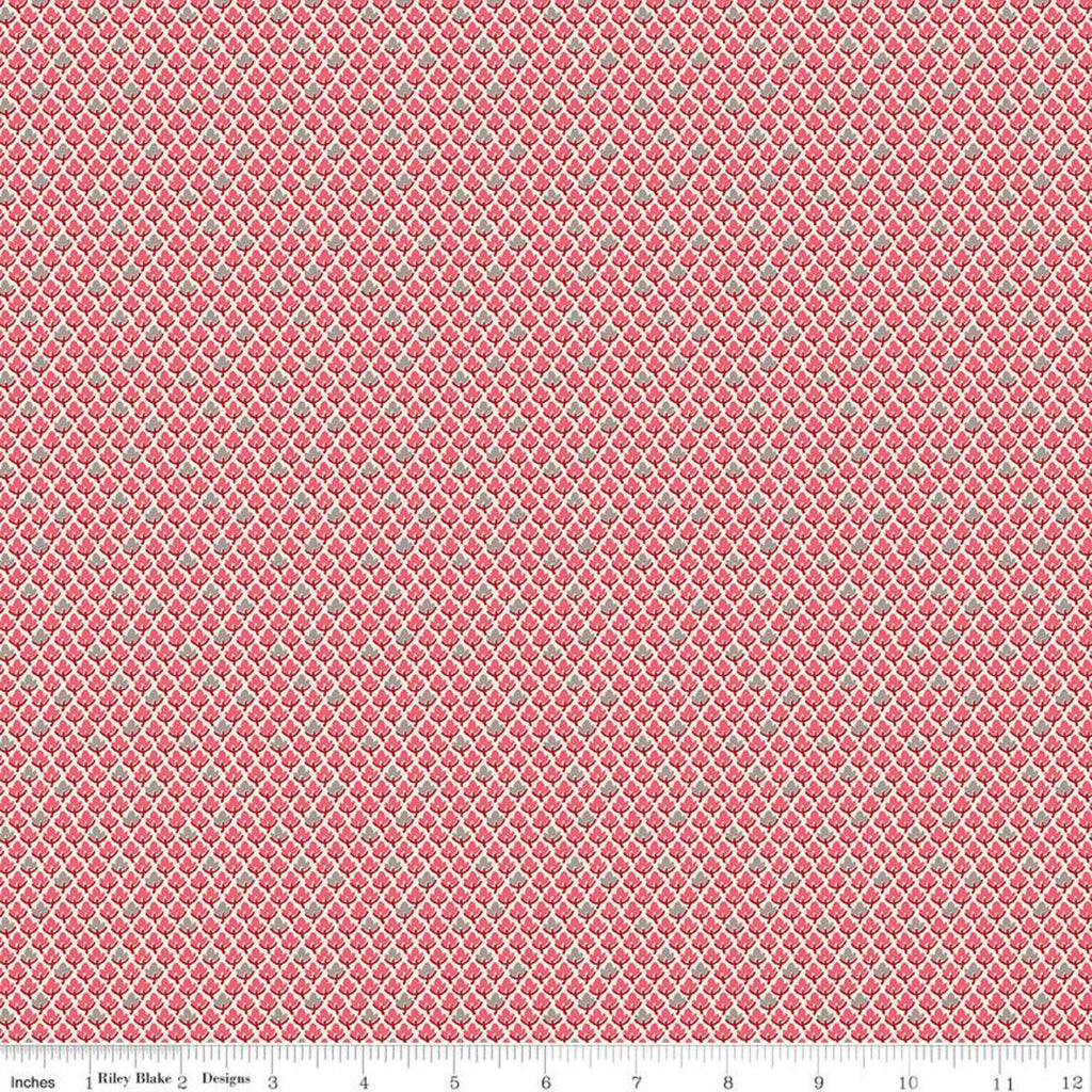 SALE Prim Leaves C9700 Tea Rose - Riley Blake Designs - Small Pink Leaves - Quilting Cotton Fabric