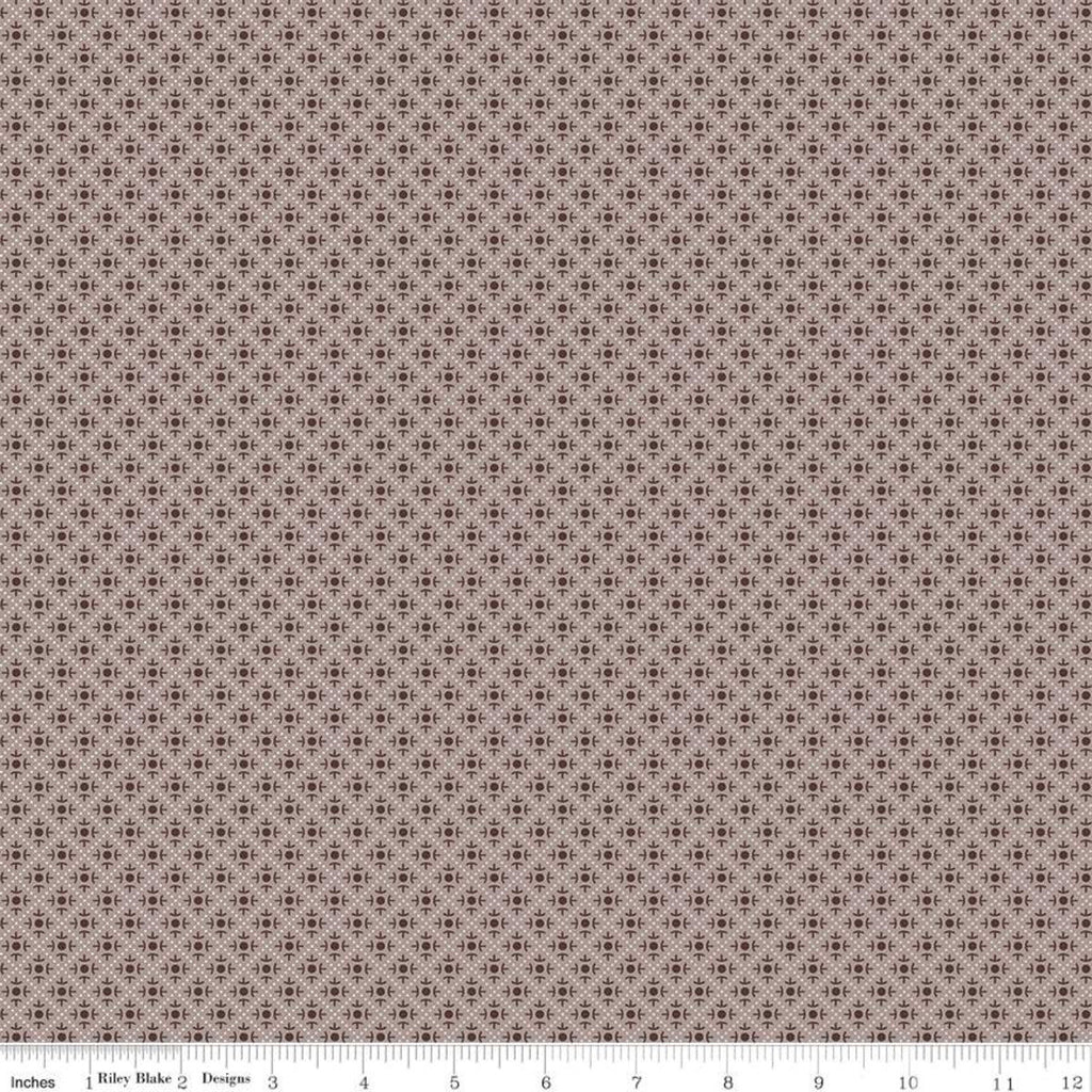 SALE Prim Sweet C9704 Pewter - Riley Blake Designs - Diagonal Geometric Dots  - Quilting Cotton Fabric