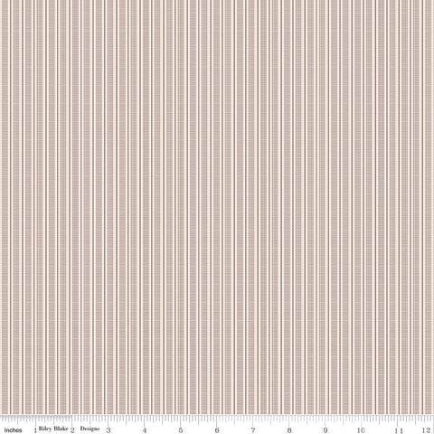 SALE Prim Ticking C9707 Pewter - Riley Blake Designs - Gray Striping Stripes Striped - Quilting Cotton Fabric