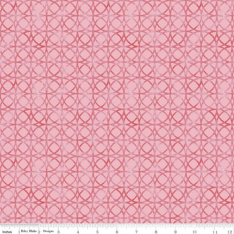 Glohaven Circles C9834 Pink - Riley Blake Designs - Tone on Tone Geometric Overlapping Circles -  Quilting Cotton Fabric