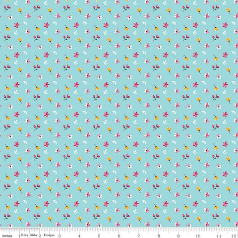 for Riley Blake Stingrays on Denim Blue Fish by Citrus /& Mint by the Half Yard Riptide Collection Quilting Cotton Sharks 44 Wide