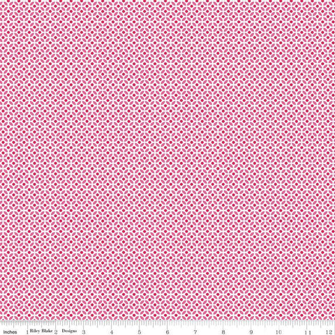 Fleur Circles C9875 Pink - Riley Blake Designs - Geometric Pink White -  Quilting Cotton Fabric