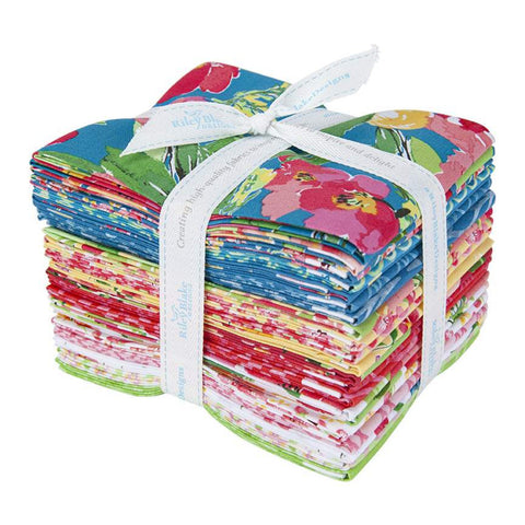 Glohaven Fat Quarter Bundle 21 pieces - Riley Blake Designs - Pre cut Precut - Flowers Floral - Quilting Cotton Fabric