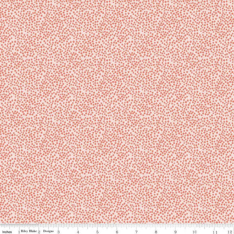 SALE New Dawn Blossoms C9855 Blush - Riley Blake Designs - Pink Floral Flowers Pin Dots - Quilting Cotton Fabric