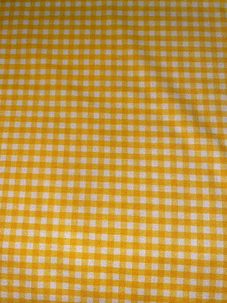 "Yellow and White 1/8"" Eighth Inch Small PRINTED Gingham - Riley Blake Designs - Checker - Quilting Cotton Fabric"