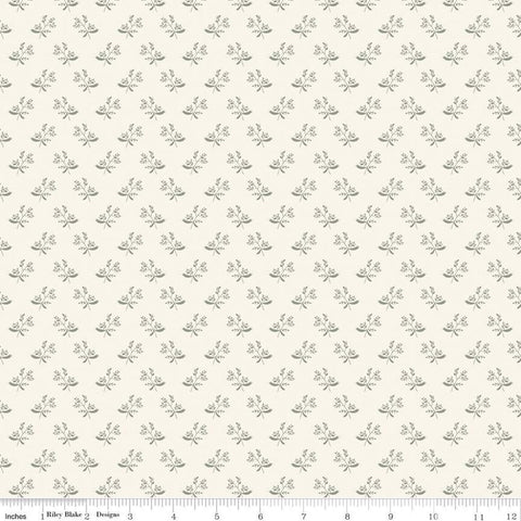 SALE My Heritage Branches C9794 Cream - Riley Blake Designs - Sprigs Leaves Berries  - Quilting Cotton Fabric