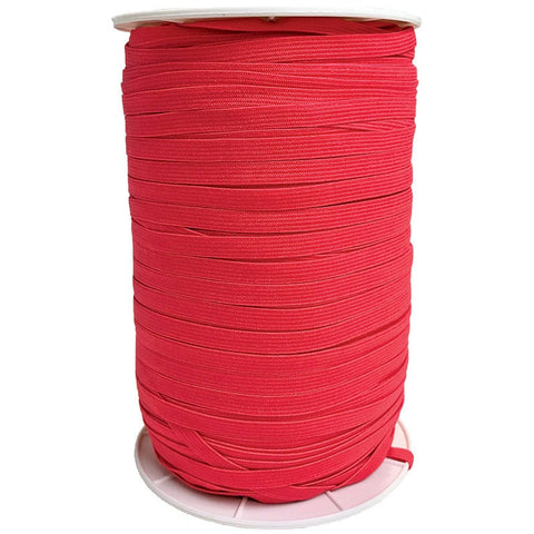 "1/4"" Wide Soft Elastic E180-252 Hot Red - Moda - Red .25"" Width - Available in Multiples of 5-Yard Lengths"