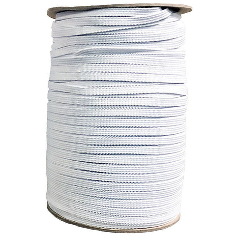"1/4"" Wide Soft Elastic E180W White - Moda - White .25"" Width - Available in Multiples of 5-Yard Lengths"