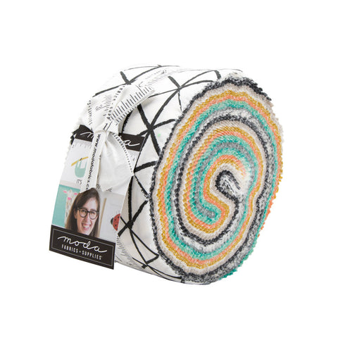 Zoology 2.5-Inch Jelly Roll Rolie Polie 40 pieces - Moda - Precut Bundle - Children's Juvenile - Quilting Cotton Fabric
