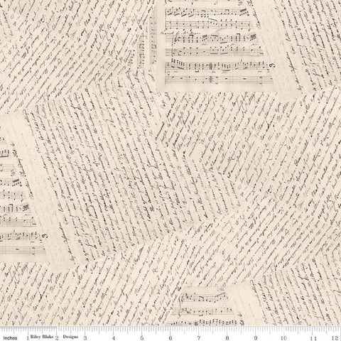 "Jane Austen at Home Accomplished Woman WIDE BACK WB10020 - Riley Blake Designs - 107/108"" Wide Letters Text  - Quilting Cotton Fabric"