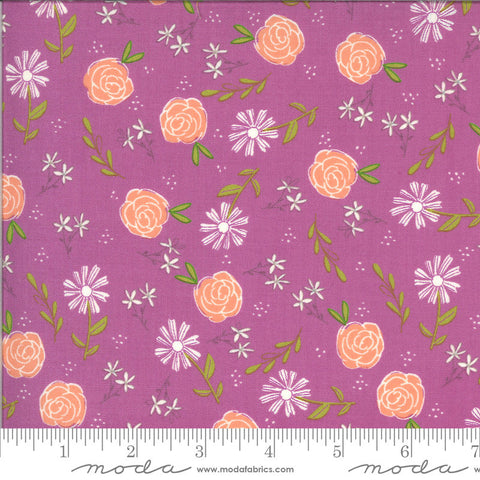 Balboa Wild Rose 37591 Fuchsia - Moda Fabrics - Floral Flowers Purple Pink - Quilting Cotton Fabric