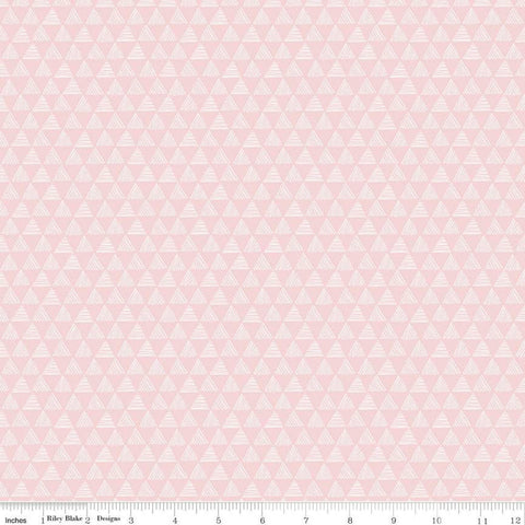 Purrfect Day Triangles C9904 Pink - Riley Blake Designs - Cat Cats Kittens Geometric - Quilting Cotton Fabric