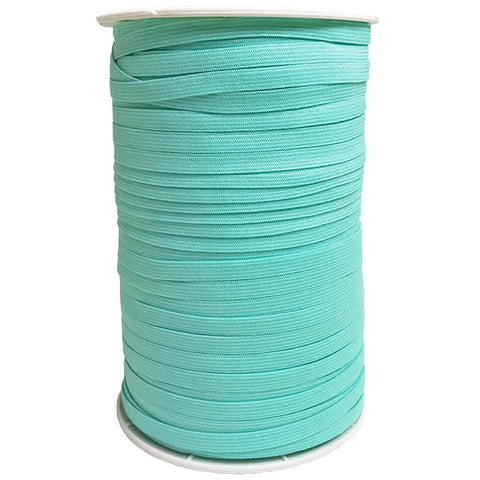 "1/4"" Wide Soft Elastic E180-323 Tropic - Moda - Aqua Blue Green .25"" Width - Available in Multiples of 5-Yard Lengths"