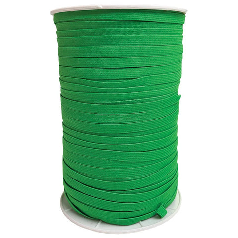 "1/4"" Wide Soft Elastic E180-580 Emerald - Moda - Green .25"" Width - Available in Multiples of 5-Yard Lengths"