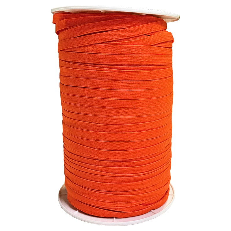 "1/4"" Wide Soft Elastic E180-761 Autumn Orange - Moda - Orange .25"" Width - Available in Multiples of 5-Yard Lengths"