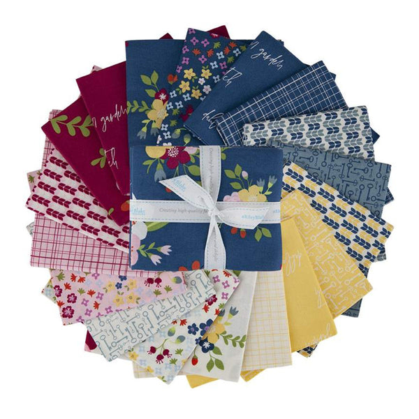 Bloom and Grow Fat Quarter Bundle 18 pieces - Riley Blake Designs - Pre Cut Precut - Flowers Floral - Quilting Cotton Fabric