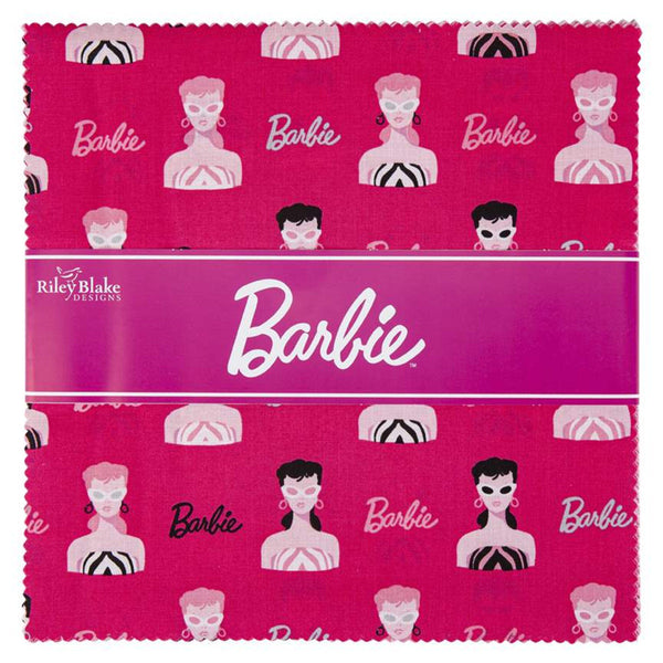 "Barbie Layer Cake 10"" Stacker Bundle - Riley Blake Designs - 42 piece Precut Pre cut - 1959 Barbie - Quilting Cotton Fabric"