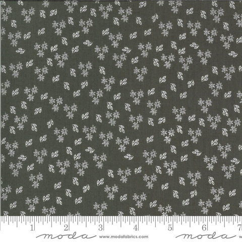 Balboa Jasmine 37594 Charcoal - Moda Fabrics - Flowers Floral Gray - Quilting Cotton Fabric