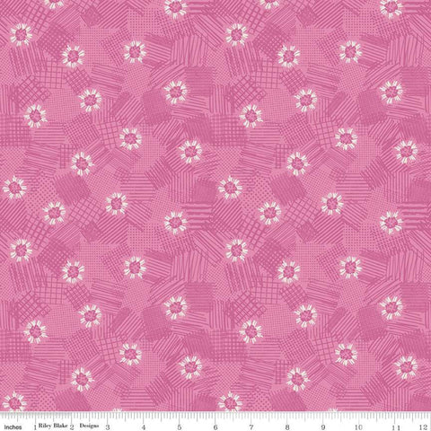 SALE Meadow Lane Scribbled Floral C10123 Pink - Riley Blake Designs - Floral Flowers Tone-on-Tone -  Quilting Cotton Fabric