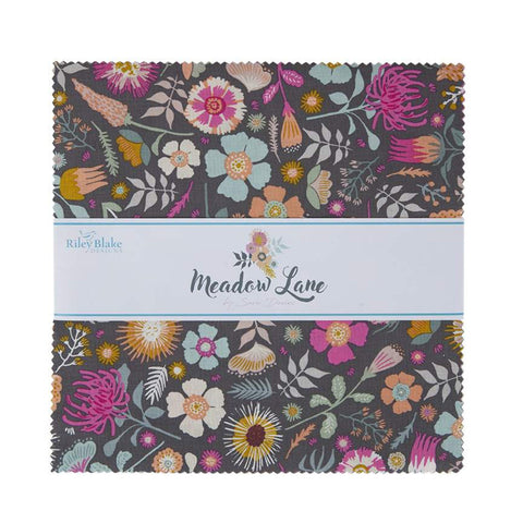 "Meadow Lane Layer Cake 10"" Stacker Bundle - Riley Blake Designs - 42 piece Precut Pre cut - Floral - Quilting Cotton Fabric"