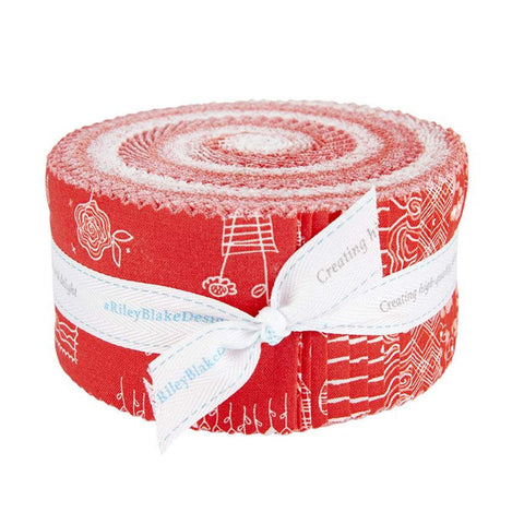 From the Heart 2.5-Inch Rolie Polie Jelly Roll 40 pieces Riley Blake Designs - Precut Bundle - Valentine's Day - Quilting Cotton Fabric