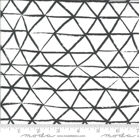 Zoology Rustic Triangle 48303 Ivory Charcoal - Moda Fabrics - Geometrics Natural Off White Black - Quilting Cotton Fabric