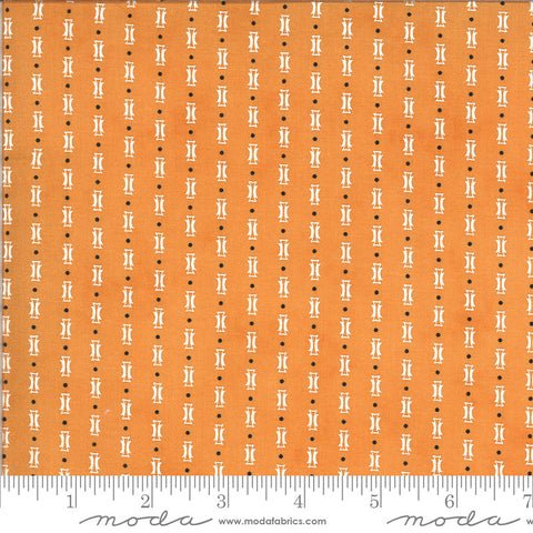 Figs and Shirtings Papas Pajamas 20396 Marmalade - Moda Fabrics - Stripes Striped Natural Off-White on Orange - Quilting Cotton Fabric