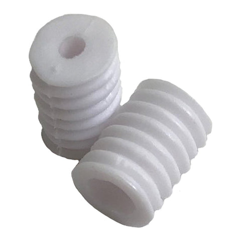 "Mask Cylinder Adjuster White MCW - Moda - Package of 50 - For Face Masks - Each Adjuster 3/8"" x 1/4"" with 1/8"" Hole - Soft Rubber Material"