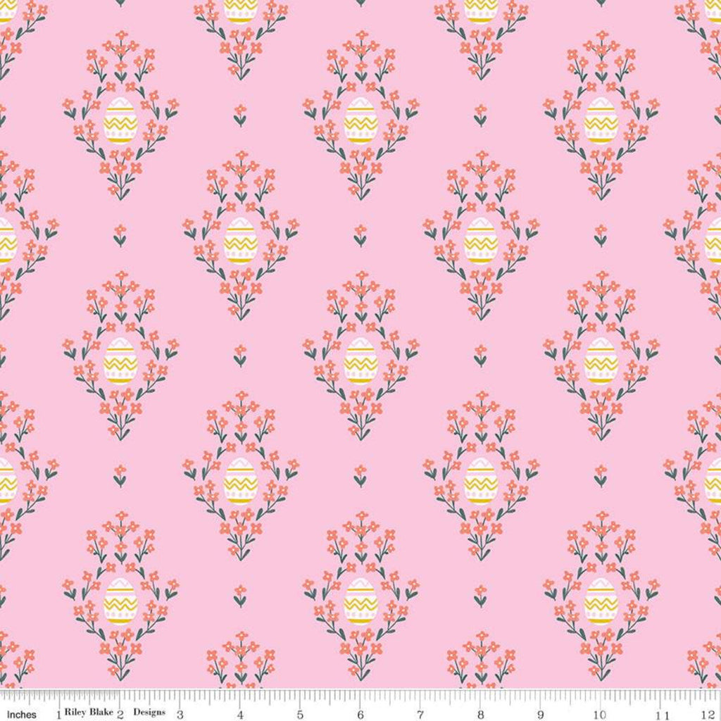 Easter Egg Hunt Eggs C10271 Pink - Riley Blake Designs - Spring Floral Flowers - Quilting Cotton Fabric