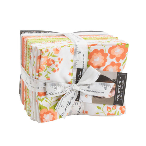 Apricot and Ash Fat Quarter Bundle - 28 pieces - Moda Fabrics - Pre cut Precut - Floral Flowers - Quilting Cotton Fabric - Free US Shipping