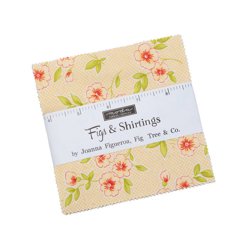 "Figs and Shirtings Charm Pack 5"" Stacker Bundle - Moda Fabrics - 42 piece Precut Pre cut - Vintage 1930s - Quilting Cotton Fabric"