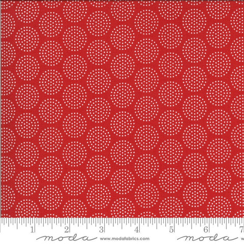 Animal Crackers Dots 5806 Apple Red - Moda Fabrics - Children's Juvenile Dotted Polka Dots Circles - Quilting Cotton Fabric