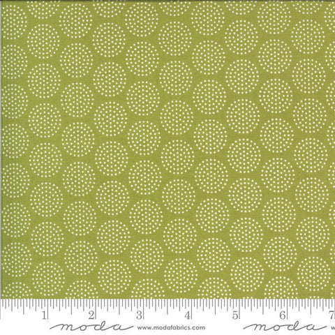 Animal Crackers Dots 5806 Pickle - Moda Fabrics - Children's Juvenile Dotted Polka Dots Circles Green - Quilting Cotton Fabric