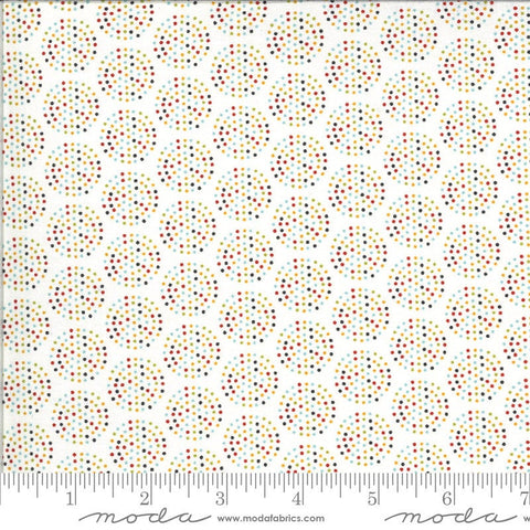 Animal Crackers Dots 5806 Vanilla Multi - Moda Fabrics - Children's Juvenile Dotted Polka Dots Circles Natural - Quilting Cotton Fabric
