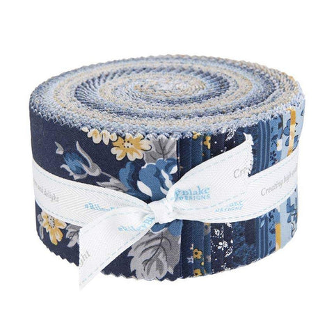 SALE Delightful 2.5 Inch Rolie Polie Jelly Roll 40 pieces - Riley Blake Designs - Floral - Precut Pre cut Bundle - Quilting Cotton Fabric
