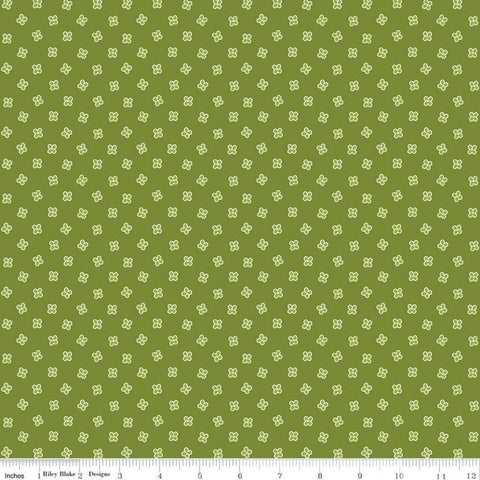 SALE Grove Mini C10145 Limeade - Riley Blake Designs - Floral Flowers Green - Quilting Cotton Fabric