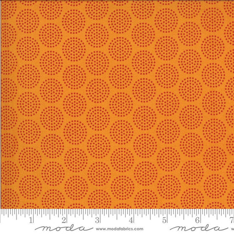 Animal Crackers Dots 5806 Tangerine - Moda Fabrics - Children's Juvenile Dotted Polka Dots Circles Orange - Quilting Cotton Fabric
