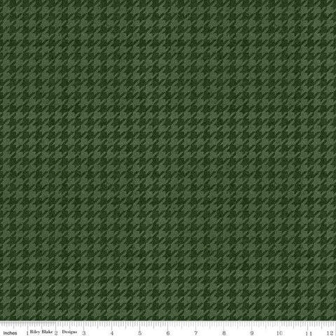 All About Plaids Houndstooth C637 Green by Riley Blake Designs - Broken Check - Quilting Cotton Fabric