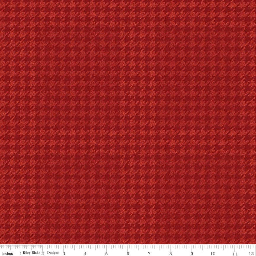 All About Plaids Houndstooth C637 Red by Riley Blake Designs - Broken Check - Quilting Cotton Fabric