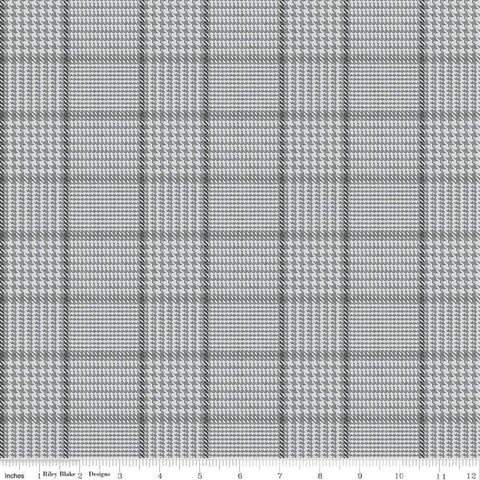 SALE All About Plaids Tweed C639 Gray - Riley Blake Designs - Plaid - Quilting Cotton Fabric