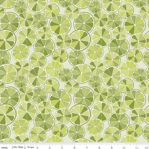 SALE Grove Slices C10141 Limeade - Riley Blake Designs - Citrus Fruit Circles Green - Quilting Cotton Fabric