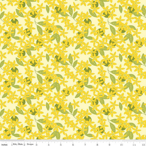 SALE Grove Blossoms C10142 Lemonade - Riley Blake Designs - Floral Flowers Yellow - Quilting Cotton Fabric