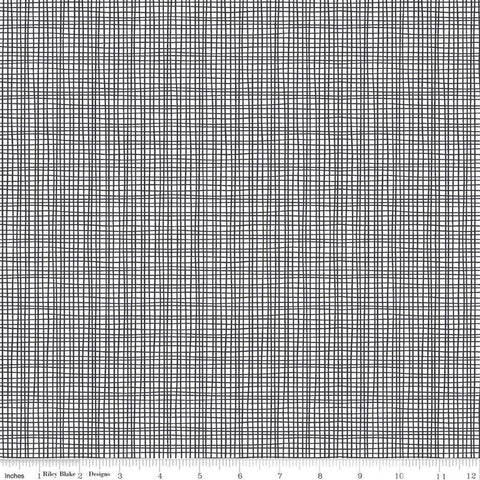 Sleep Tight Weave C10265 Gray - Riley Blake Designs - Irregular Plaid Grid Gray White -  Quilting Cotton Fabric